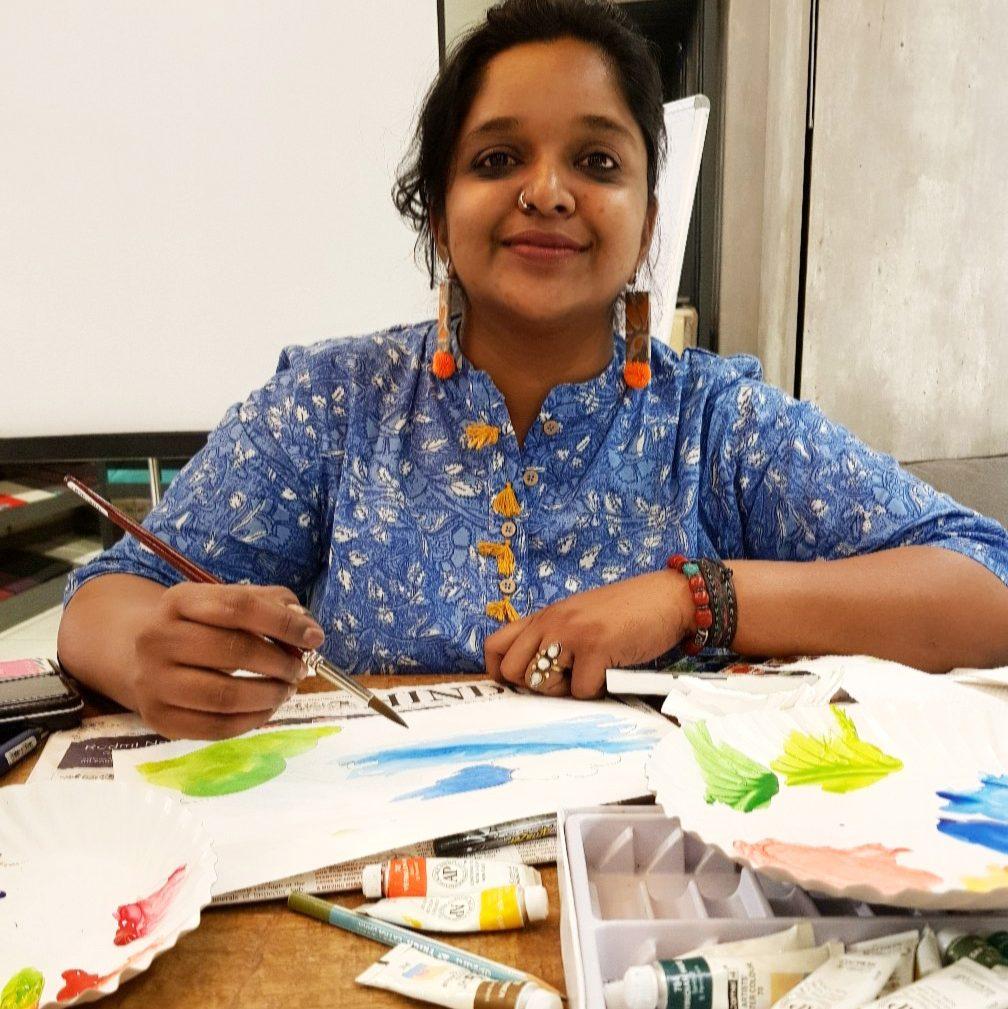 Sketching Workshop , Parinitha Konanur, Urban Sketching, Farm Visit near bangalore